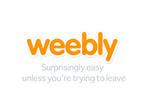 I made a slight modification to the weebly logo.